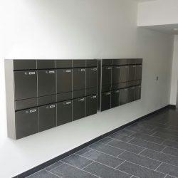 Briefkastenanlage für Mehrfamilienhaus